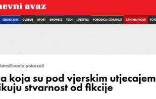 Nedopustivo vrijeđanje vjernika na portalu Avaz.ba