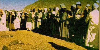 Čovjek , koji je svojim rukama, nakon 1400 godina ponovo ukopao Hamzu Ibn Abdulmutaliba na Uhudu