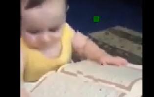 Nevjerovatno reakcija bebe prema Kuranu (VIDEO)