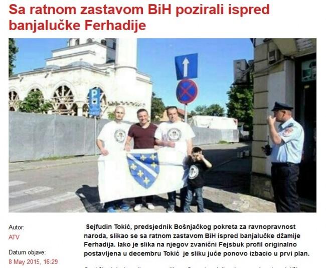 Srpski mediji napadaju Sejfudina Tokića jer je na Facebook postavio fotografiju zastave RBiH