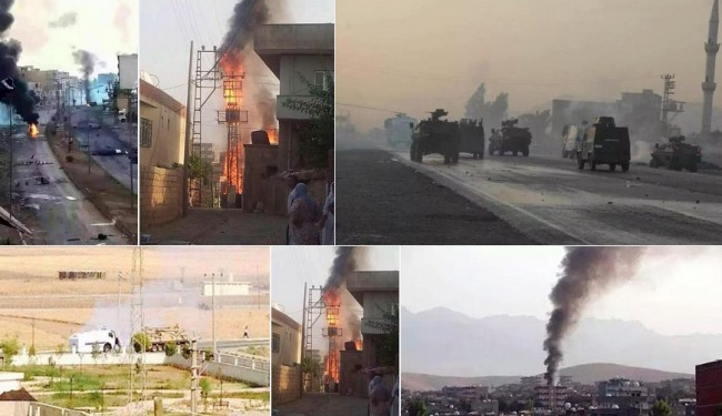 Okršaj turske vojske i kurdskog PKK u pograničnom gradu Silopi (VIDEO)