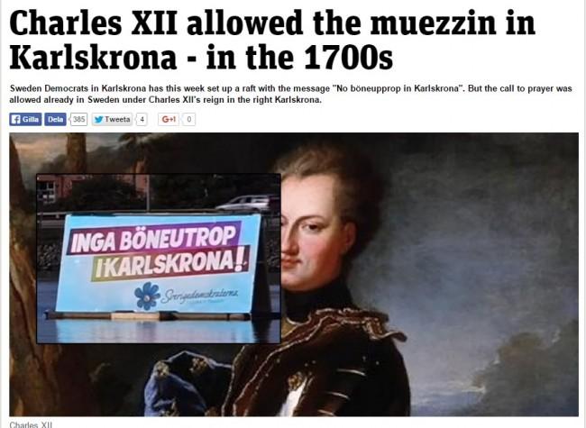 Da li ste znali da je u Švedskoj u osamnaestom stoljeću bilo dozvoljeno učiti ezan