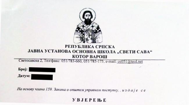 Ovako izgledaju memorandumi sekularnih škola u Republici Srpskoj