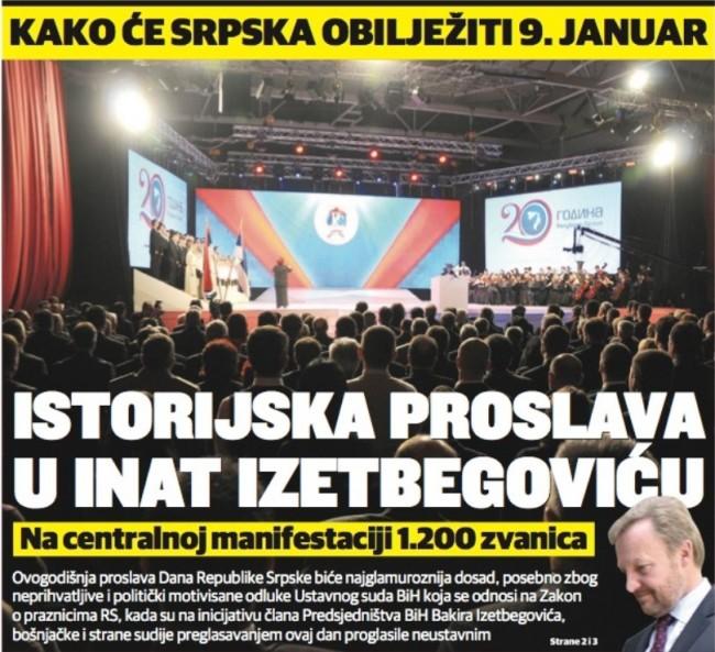 Ovako se srpski mediji šprdaju sa Bosnom i Bošnjacima