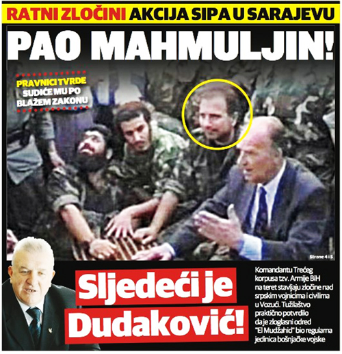 Ovako su mediji u RS-u obilježili hapšenje generala Sakiba Mahmuljina