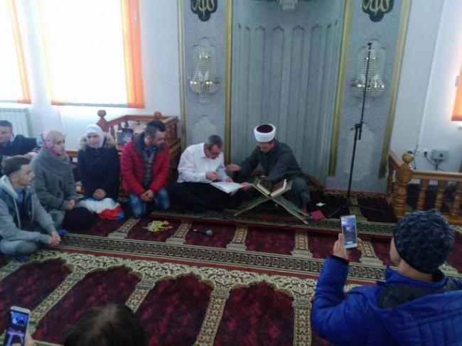 Danas nakon džume: Nijemac prešao na islam u džematu Polje (VIDEO)