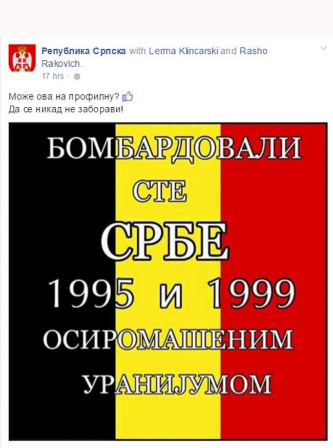 Dodikovi Srbi na Facebooku proslavljaju teroristički napad u Belgiji