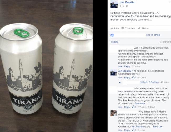 Norveški ambasador na Kosovu objavio sliku piva na kome se vidi džamija