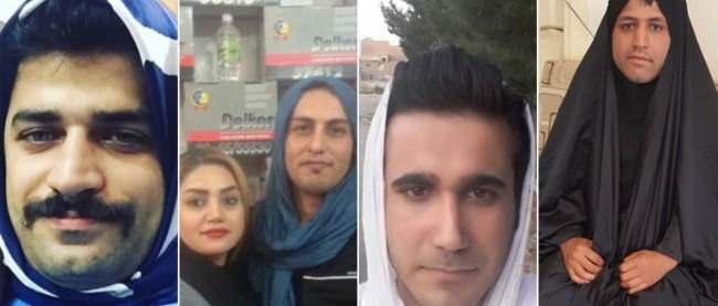 Muškarci u Iranu nose hidžabe kako bi se solidarizirali sa ženama koje se protive toj obavezi