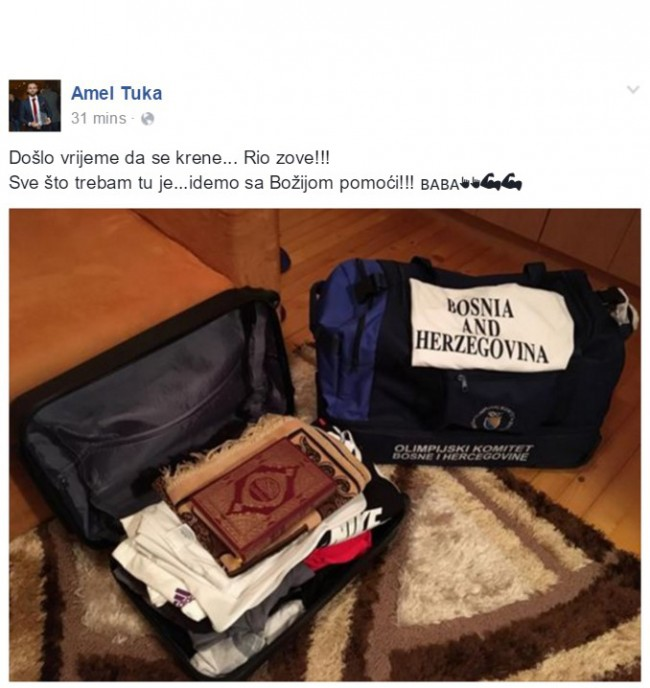 Amel Tuka je spreman za Olimpijadu: Kur'an i serdžada u koferu, a u srcu želja za medaljom
