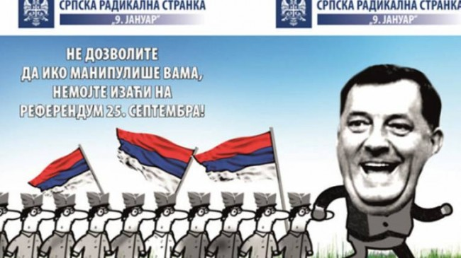 Srpska radikalna stranka poziva Srbe na bojkot referenduma u RS-u