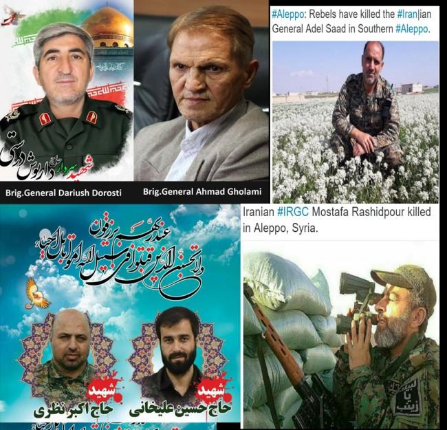 U posljednjih deset dana u Halepu ubijeno šest iranskih generala