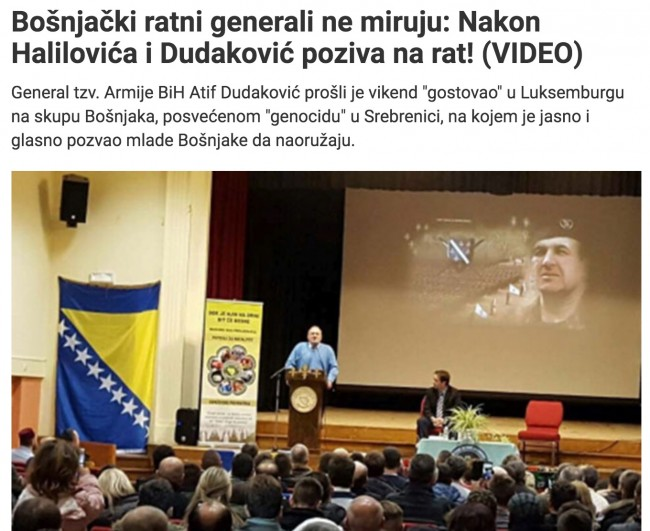 Srpska propaganda žestoko napala generala Dudakovića zbog izjave da bi ponovo branio BiH