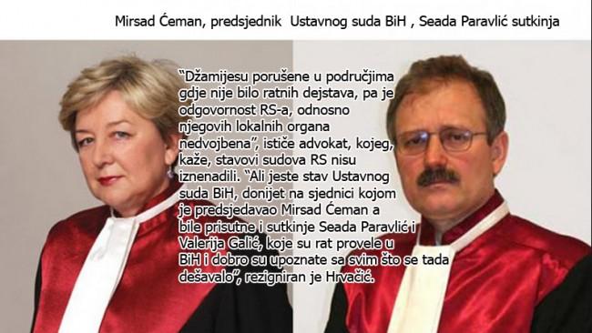 Skandalozno: Ustavni sud BiH donio presudu koja znači da RS nije kriva za rušenje džamija