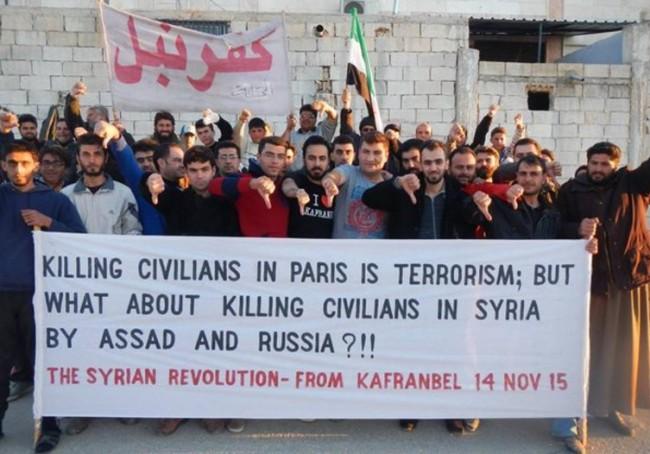 Sirijci pitaju svijet: Ubijanje civila u Parizu je terorizam, a kako se zove kada Asad i Rusija ubijaju civile u Siriji?