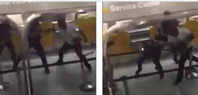 Bivši MMA borac prebio tri njemačka policajca na aerodromu kada su mu oborili suprugu u hidžabu (VIDEO)